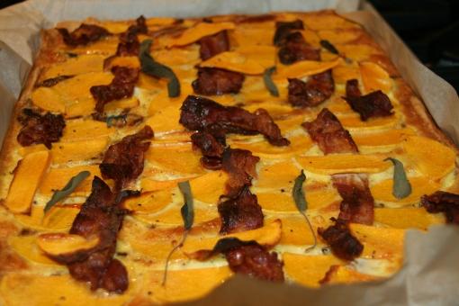 butternut squash bacon quiche