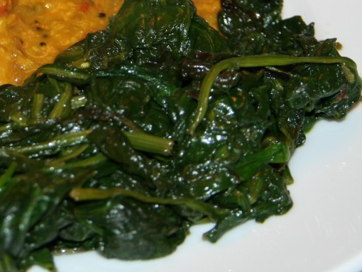 Madhur Jaffrey Sauteed Spinach