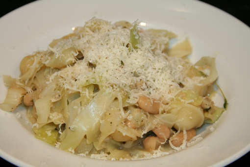 Cannellini Bean & Cabbage Pasta