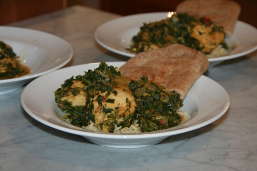 Indian-Spiced Chicken with Spinach