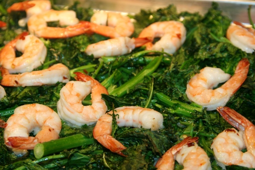 Roasted Broccoli Rabe and Shrimp