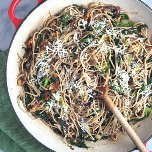 Whole Wheat Spaghetti with Browned Butter, Swiss Chard ...