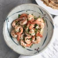 Buckwheat Crepes with Mix & Match Creamy Mushroom, Caramelized Sweet Onion, Sautéed Greens, & Citrus Shrimp Fillings