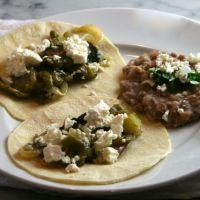 Super Bowl Tacos: Tacos of Creamy Braised Chard, Potatoes, & Poblanos