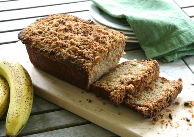 Whole Wheat Banana Bread with Roasted Bananas | thebrookcook