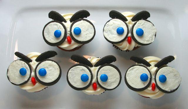 Birthday Red Velvet Owl Cupcakes Johnnycake The One Room