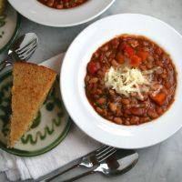Vegetarian Chili with Winter Vegetables