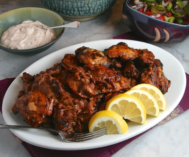 Grilled Chicken Thighs With Chile Yogurt Sauce Thebrookcook