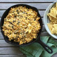 Grilled Corn & Poblano Dip