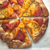 Heirloom Tomato Crostata with Honey-Thyme Glaze