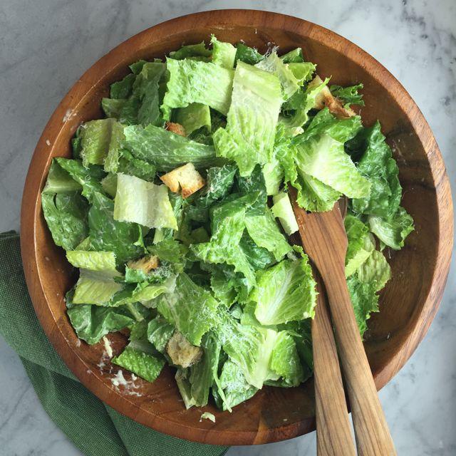 Simple Caesar Salad | thebrookcook