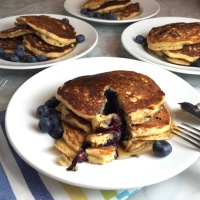 Oatmeal Blueberry Buttermilk Pancakes