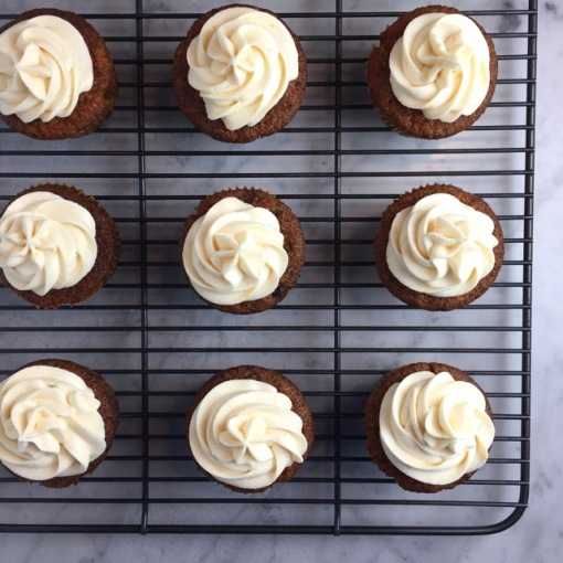 Ina Garten Cream Cheese Frosting ina garten's carrot cake cupcakes | thebrookcook