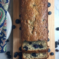 Seeded Lemon-Blueberry-Banana Bread