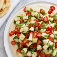 Salad-Topped Hummus Platter