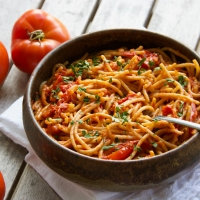 Spaghetti with Tomatoes & Anchovy Butter