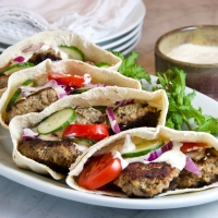 Turkish Meatballs with Lime-Yogurt Sauce