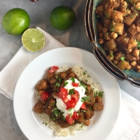 Punjabi Chickpeas with Potato (Chole or Chana Masala)