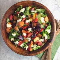Escarole, Beet, & Tomato Salad with Warm Shallot Vinaigrette