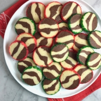 Zebra-Striped Shortbread Cookies