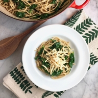 Vegetarian Carbonara with Spinach