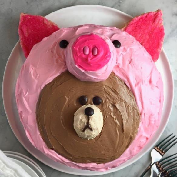 Awe Inspiring Line Friends Red Velvet Birthday Cake Thebrookcook Funny Birthday Cards Online Fluifree Goldxyz