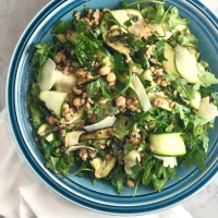 Zucchini with Farro, Chickpeas & Arugula