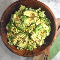 Grilled Corn & Avocado Salad with Creamy Feta Dressing