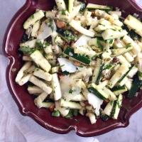 Zucchini Salad with Pecorino, Basil, & Almonds