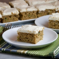 Spiced Zucchini-Banana Cake with Cream Cheese Frosting
