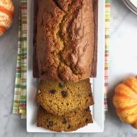 Olive Oil Pumpkin Bread with Walnuts & Raisins