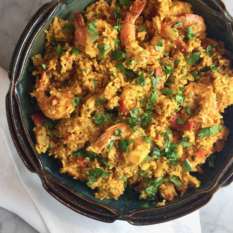 Pressure Cooker Shrimp Biryani
