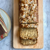 Banana Bread with Crunchy Sugar Topping