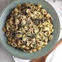 Mushroom Carbonara with Orecchiette