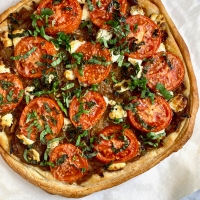 Ina Garten's Caramelized Onion, Tomato & Goat Cheese Tarts