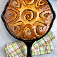 Cinnamon-Date Sticky Buns with Vanilla Glaze