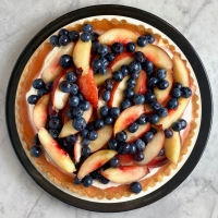 Nectarine & Blueberry Tart