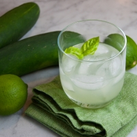 Cucumber, Basil & Lime Gimlet