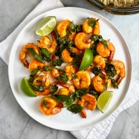 Shrimp & Basil Stir-Fry
