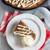 Caramel Apple Skillet Cake with Browned Butter Glaze