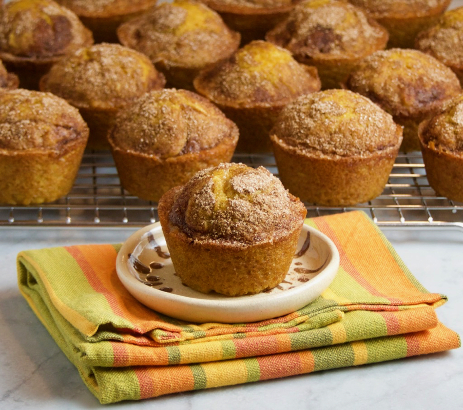 Pumpkin Muffins With Cinnamon Sugar Topping Thebrookcook