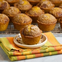 Pumpkin Muffins with Cinnamon-Sugar Topping