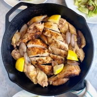 Skillet Caesar Salad Roast Chicken