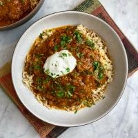 Khoresh Bademjan (Persian Tomato & Eggplant Stew)