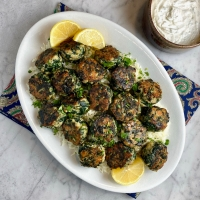 Baked Chicken & Spinach Meatballs