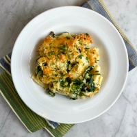 Baked Rigatoni with Cheddar & Broccoli Rabe