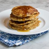 Overnight Oatmeal-Buttermilk Pancakes