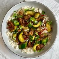 Caramelized Pork & Cucumber Stir-Fry